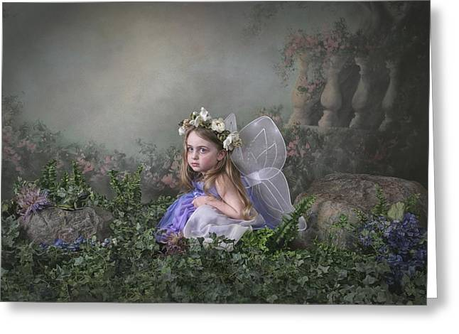 A Girl Dressed As A Fairy Victoria Greeting Card