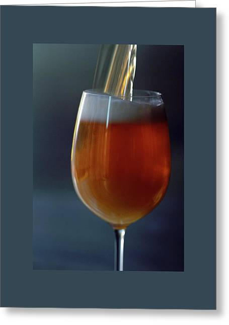A Glass Of Beer Greeting Card by Romulo Yanes