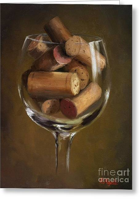A Glass Of Cork Greeting Card