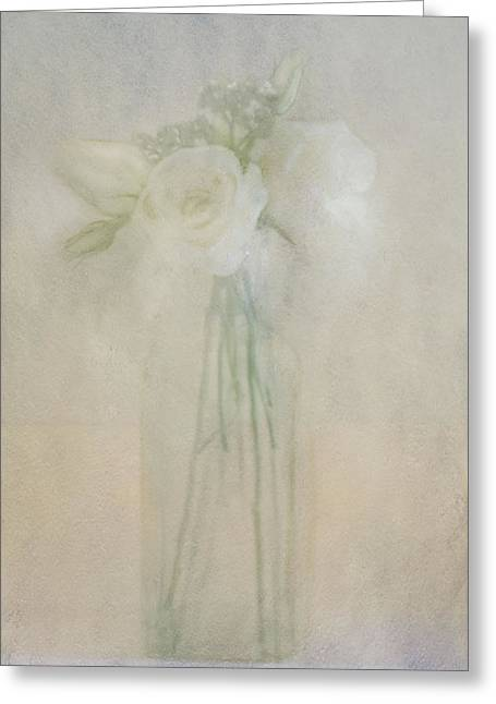 Greeting Card featuring the photograph A Glimpse Of Roses by Annie Snel