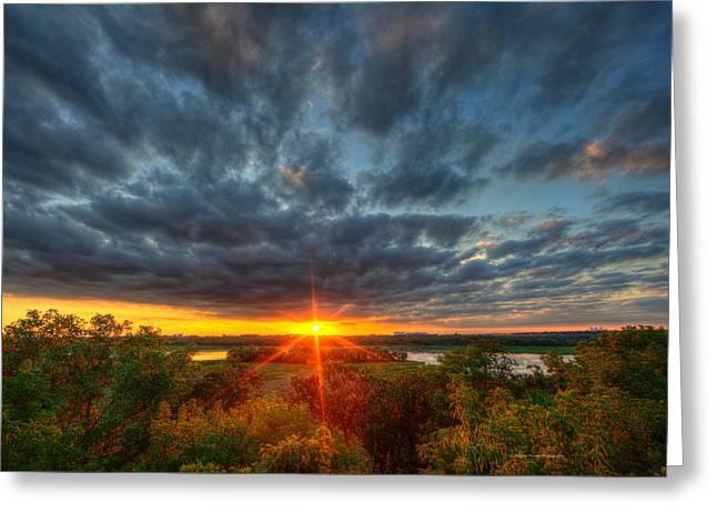 A Glorious Minneapolis Sunset Greeting Card by Wayne Moran