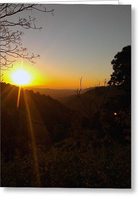 A Glorious Sunrise Over Nebo Greeting Card by Edwin Vincent