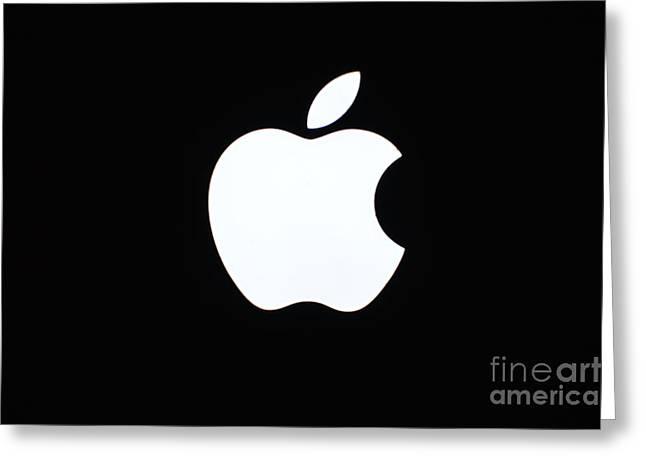 A Glowing Apple Greeting Card by Robert Loe
