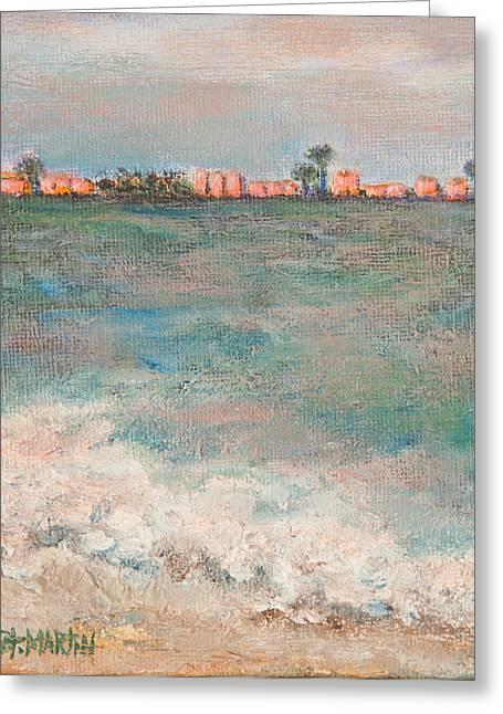 A  Glowing Sunrise Greeting Card by Annie St Martin