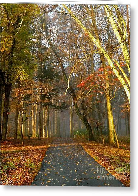 A Golden Path Greeting Card by Christy Ricafrente
