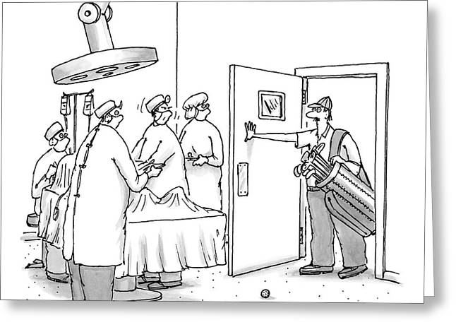 A Golfer Enters An Operating Room Where His Golf Greeting Card