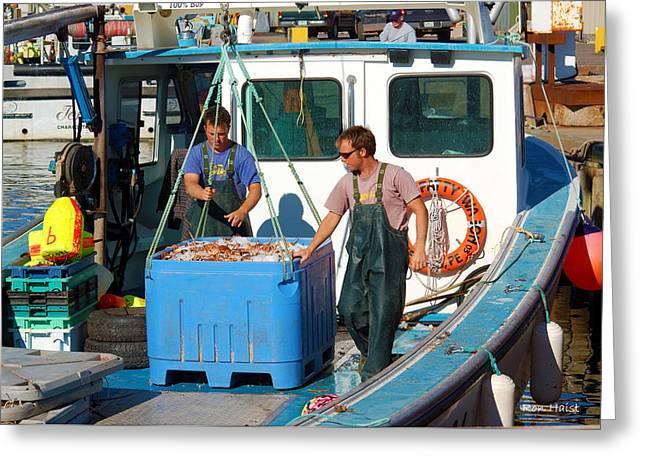 A Good Day Fish'n Greeting Card by Ron Haist