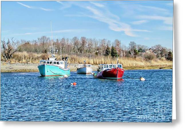 A Good Day To Fish Greeting Card by Roxanne Marshal
