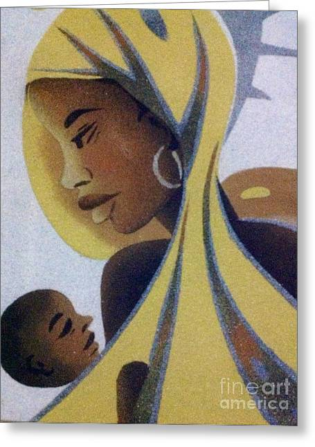 A Good Mother Greeting Card by Fania Simon
