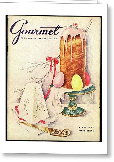 A Gourmet Cover Of A Cake Greeting Card