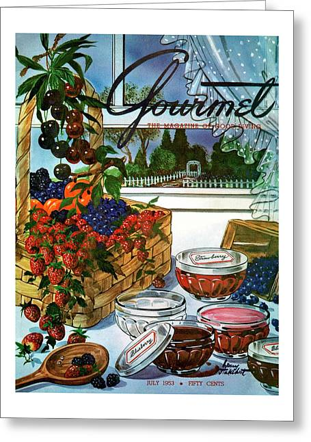 A Gourmet Cover Of A Fruit Basket Greeting Card
