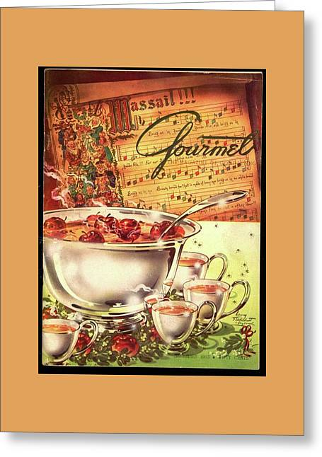 A Gourmet Cover Of Apples Greeting Card by Henry Stahlhut