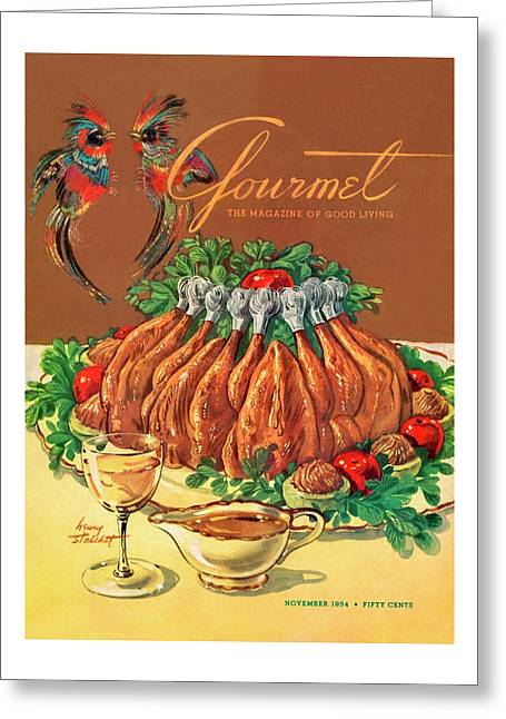 A Gourmet Cover Of Chicken Greeting Card