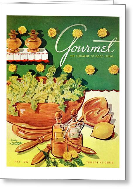 A Gourmet Cover Of Dandelion Salad Greeting Card