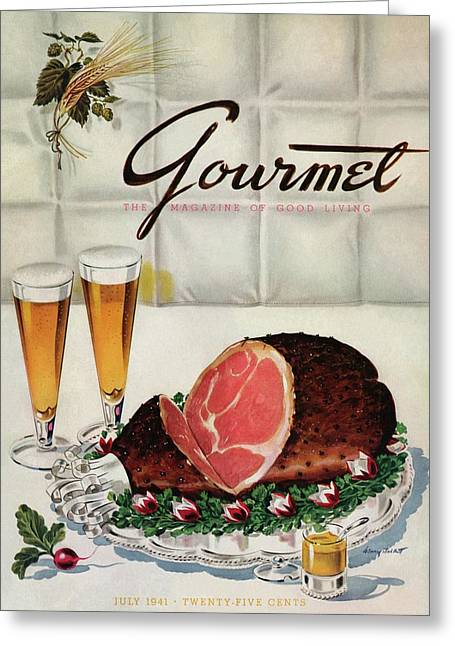 A Gourmet Cover Of Ham Greeting Card