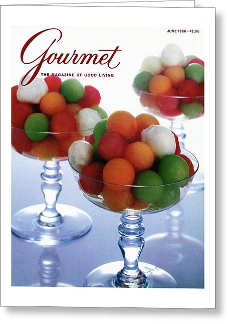 A Gourmet Cover Of Melon Balls Greeting Card
