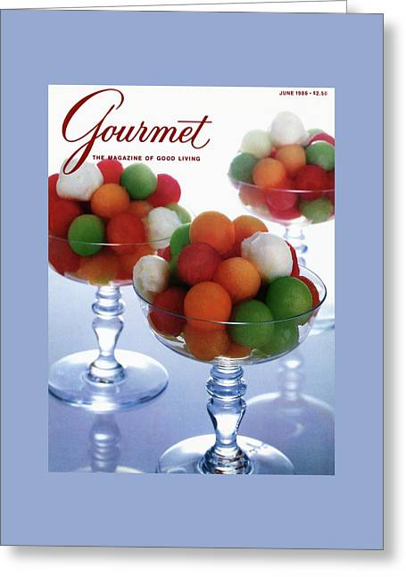 A Gourmet Cover Of Melon Balls Greeting Card by Romulo Yanes