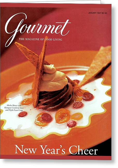 A Gourmet Cover Of Moch Mousse Greeting Card by Romulo Yanes