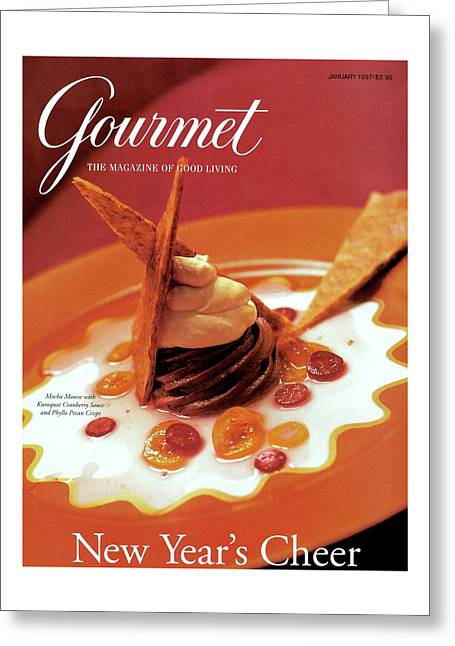 A Gourmet Cover Of Moch Mousse Greeting Card