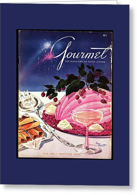 A Gourmet Cover Of Mousse Greeting Card by Henry Stahlhut