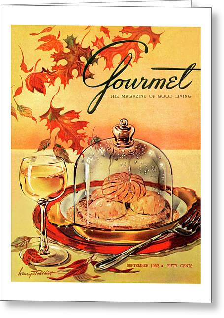 A Gourmet Cover Of Mushrooms On Toast Greeting Card