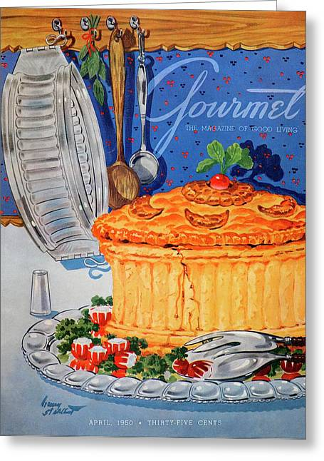 A Gourmet Cover Of Pate En Croute Greeting Card