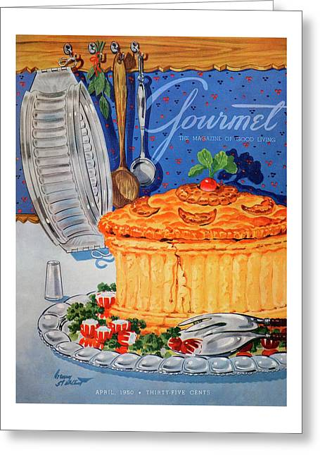 A Gourmet Cover Of Pate En Croute Greeting Card