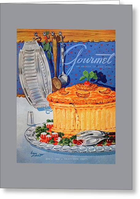 A Gourmet Cover Of Pate En Croute Greeting Card by Henry Stahlhut