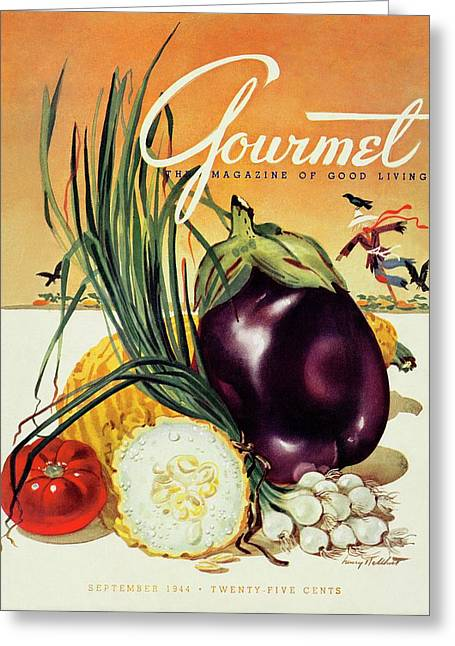A Gourmet Cover Of Vegetables Greeting Card
