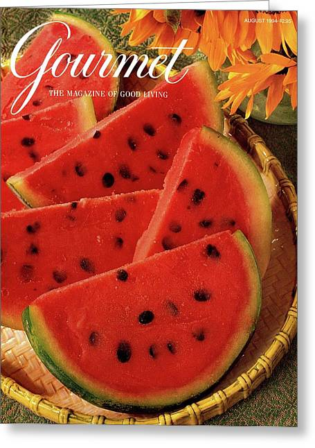 A Gourmet Cover Of Watermelon Sorbet Greeting Card