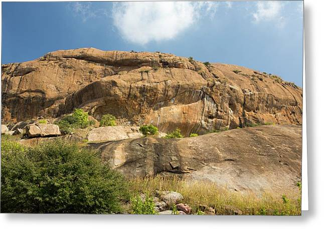 A Granite Peak In The Western Ghats Greeting Card by Ashley Cooper
