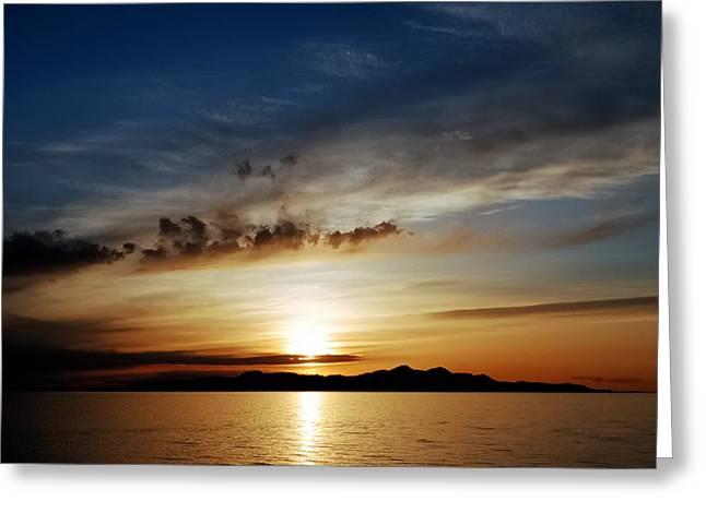 A Great Salt Lake Sunset Greeting Card