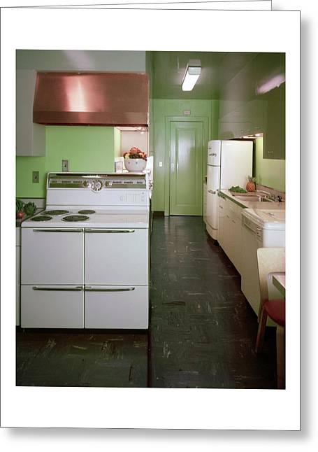A Green Kitchen Greeting Card
