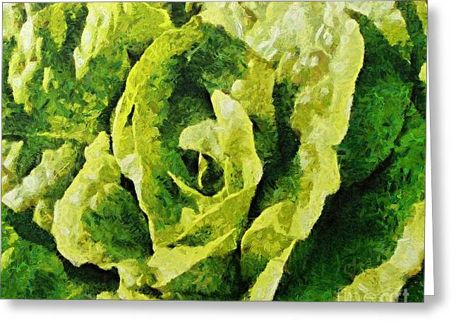 A Green Source Of Vitamins Greeting Card by Dragica  Micki Fortuna