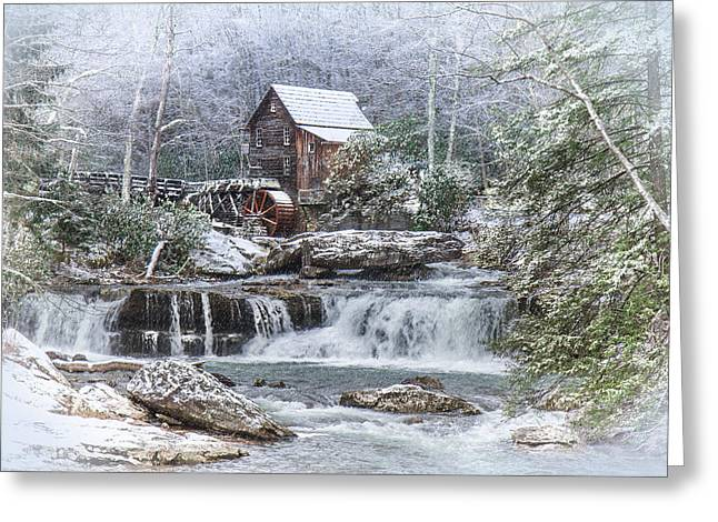 A Gristmill Christmas Greeting Card by Mary Almond