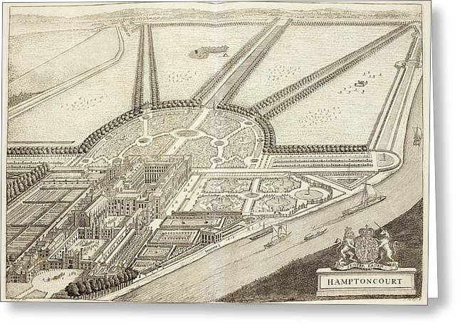 A Ground Plan Of Hampton Court Greeting Card by British Library