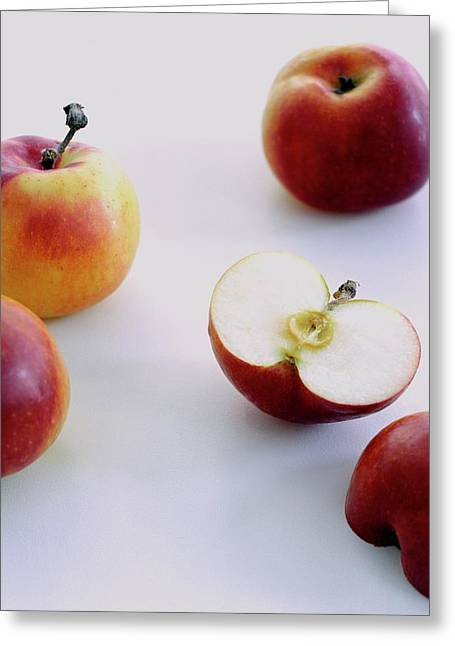 A Group Of Apples Greeting Card