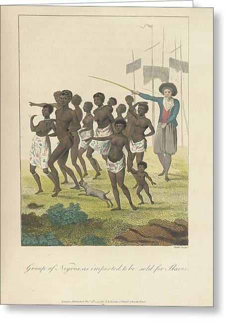 A Group Of Negros Greeting Card