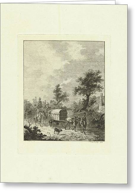 A Group Of Soldiers On Horseback, Joannes Bemme Greeting Card by Joannes Bemme