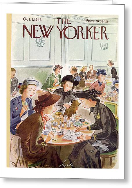 New Yorker October 2, 1948 Greeting Card
