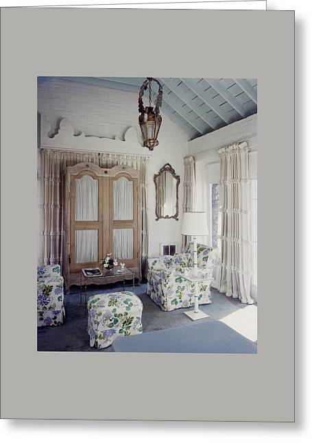 A Guest Room At Hickory Hill Greeting Card by Tom Leonard