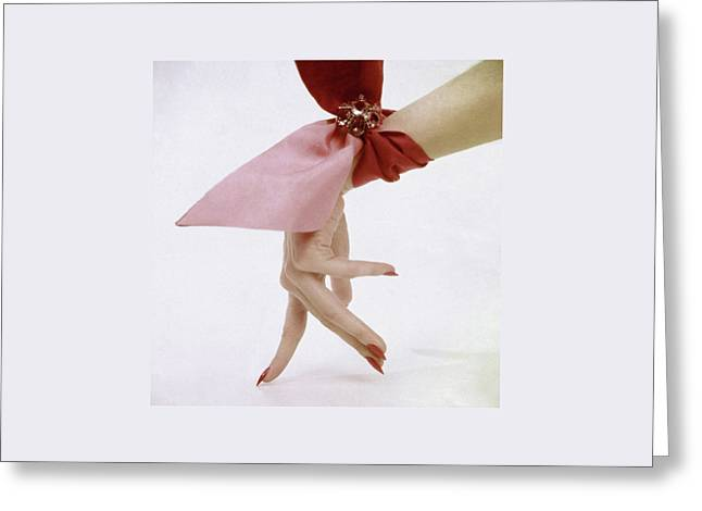 A Hand With A Wrist Scarf Greeting Card by Clifford Coffin