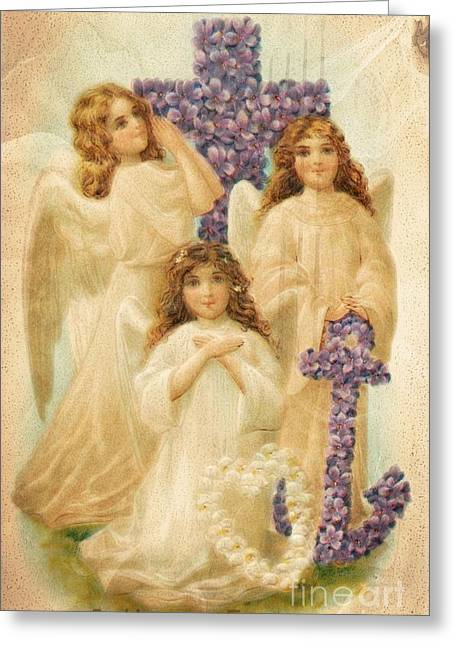 A Happy Easter 1908 German Postcard Greeting Card