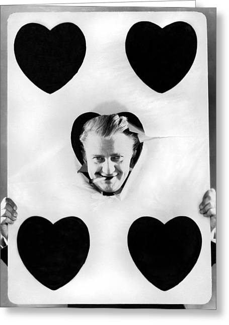 A Happy Five Of Hearts Greeting Card by Underwood Archives