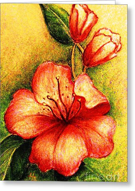 A Harbinger Of Springtime Greeting Card by Hazel Holland