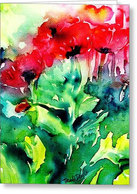 A Haze Of Poppies Greeting Card