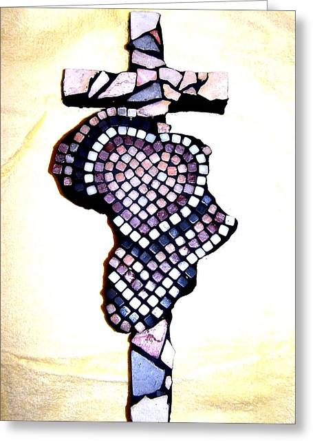 A Heart For Africa Cross Greeting Card