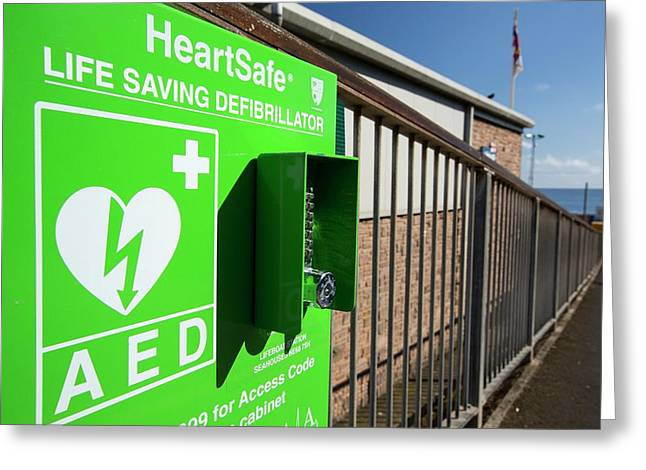 A Heartsafe Defibrillator Greeting Card