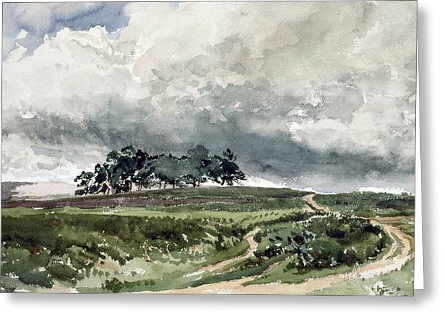 A Heath Scene Greeting Card by Thomas Collier