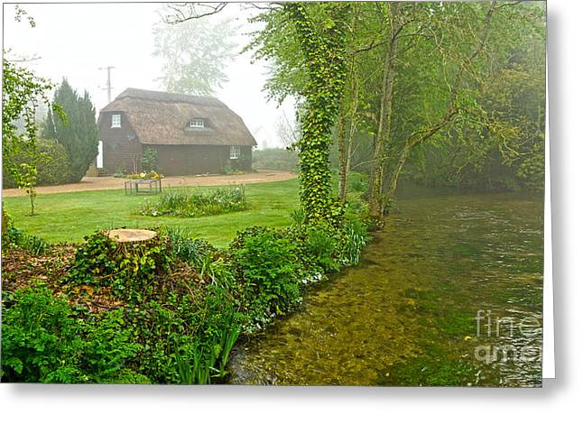 A Home By The River Anton Greeting Card